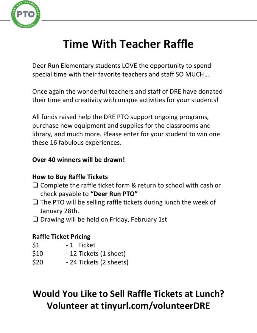 DRE teacher raffle flier