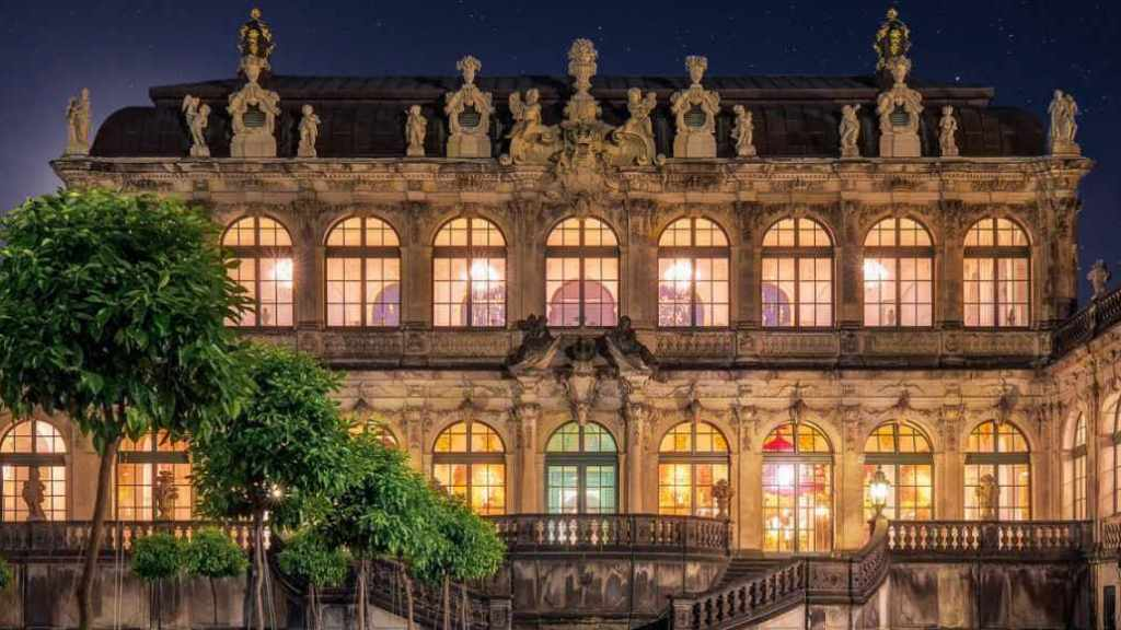 Ansicht des Der Porzellanpavillon im Dresdner Zwinger