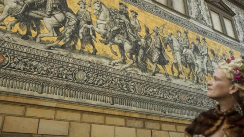 Fürstenzug mit barocker Dame