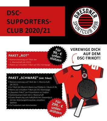 Der DSC-Supporters-Club – jetzt mitmachen bei der einmaligen Trikot-Aktion!