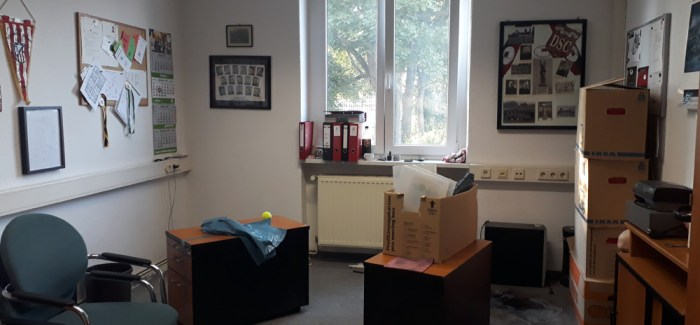 Umzug von Geschäftsstelle und Umkleiden
