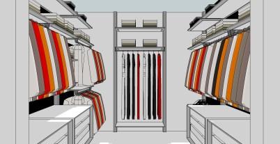 Open dressing ontwerp voor een aparte dressing ruimte.