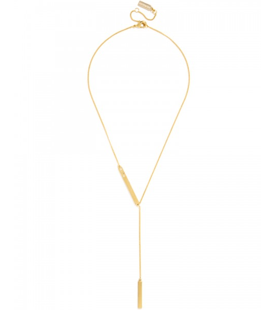 BaubleBar Incognito Initial Y-Chain Necklace