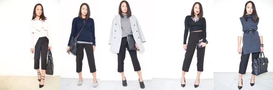 DRESSED ACCORDINGLY BLOG // Cropped wide Leg pants or culottes 5 ways