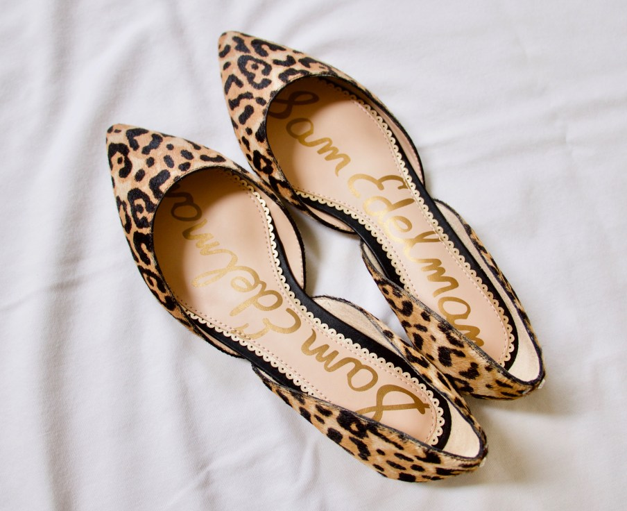 Leopard Pointy toe D'orsay Flat