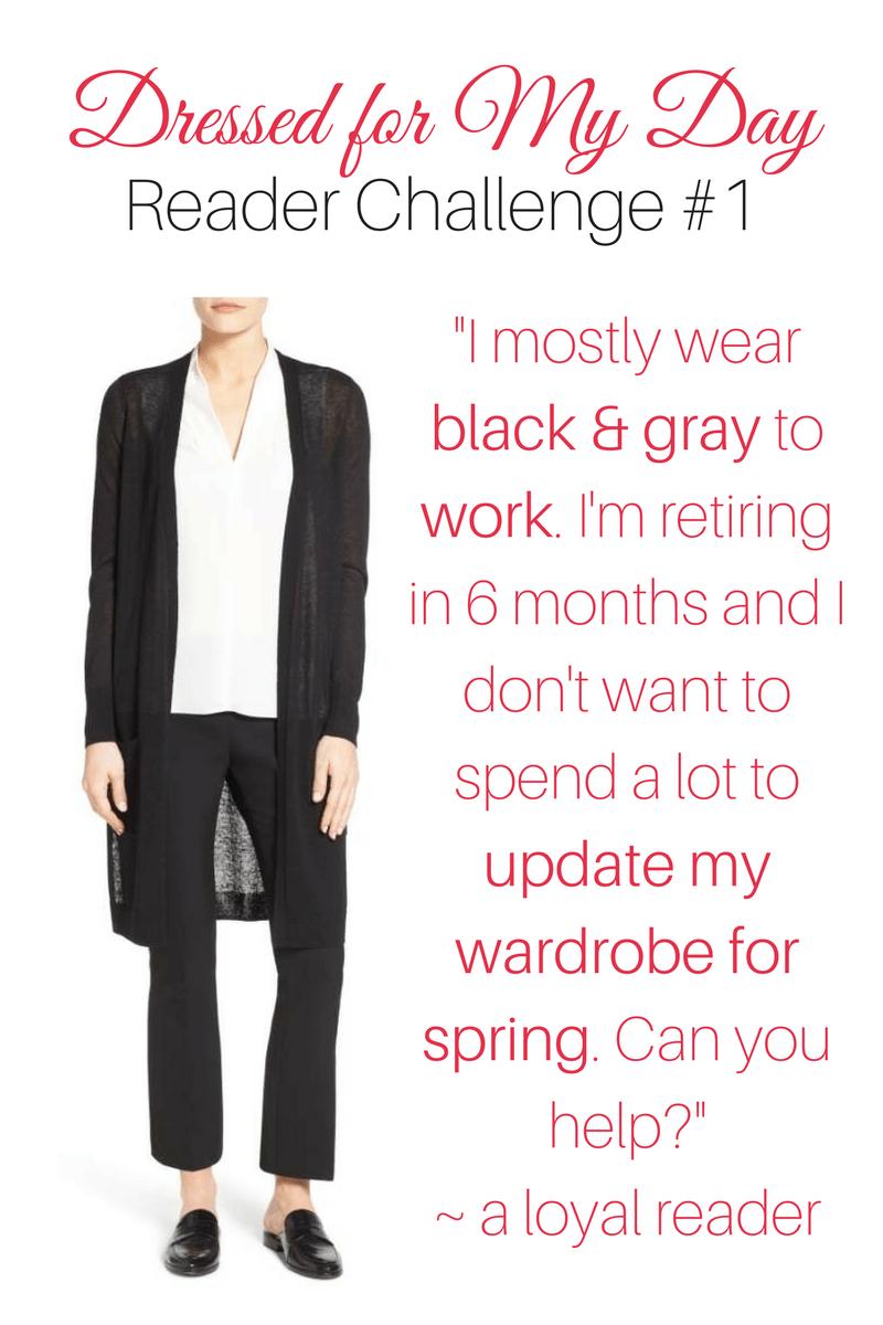 Reader Challenge Bring Black Work Wear into Spring