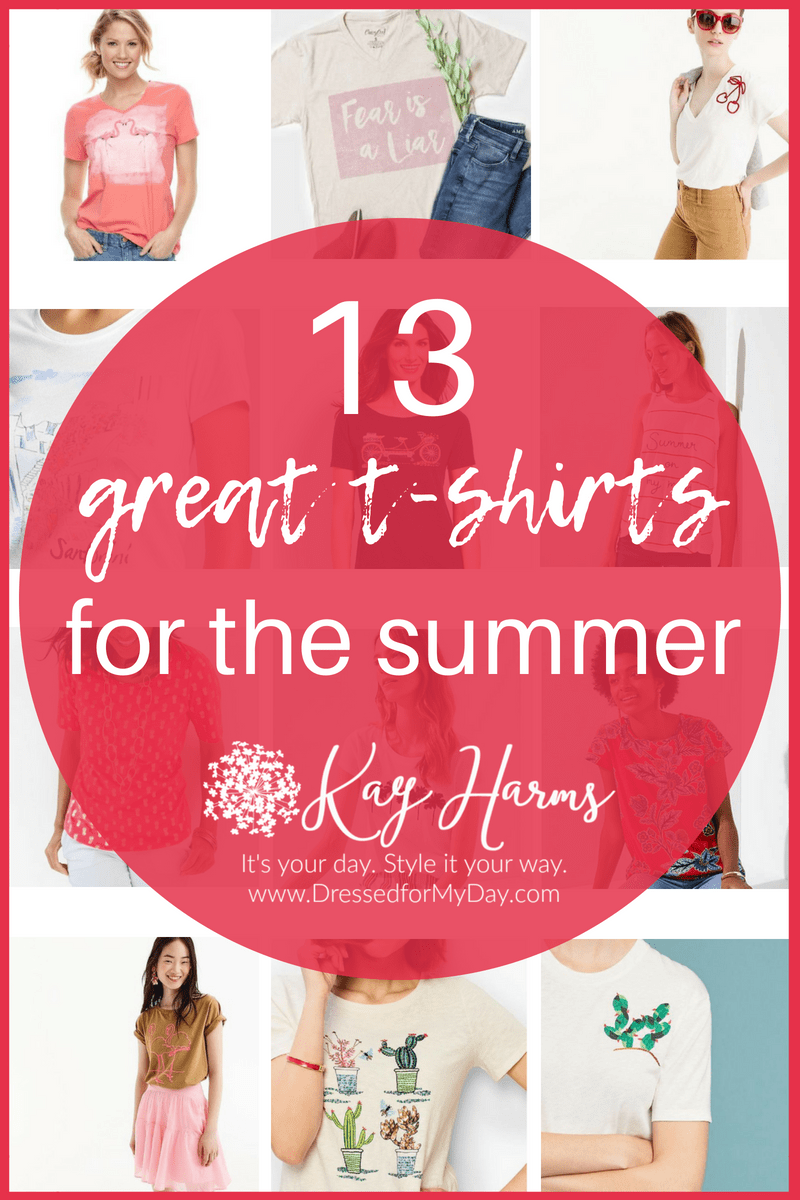 13 great t-shirts for the summer at Dressed for My Day