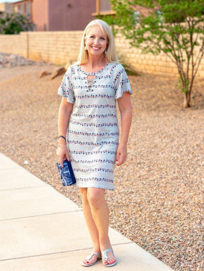 Simple Dress with Vera Bradley Crossbody