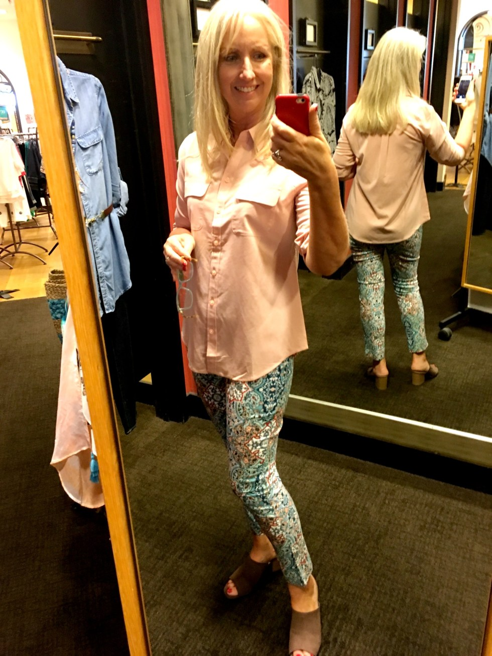 Fitting Room Try-On session Chicos
