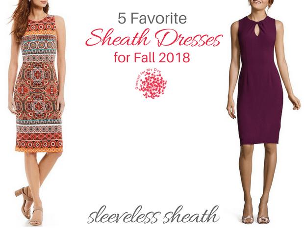 Five Favorite Sheath Dresses for Fall 2018 sleeveless