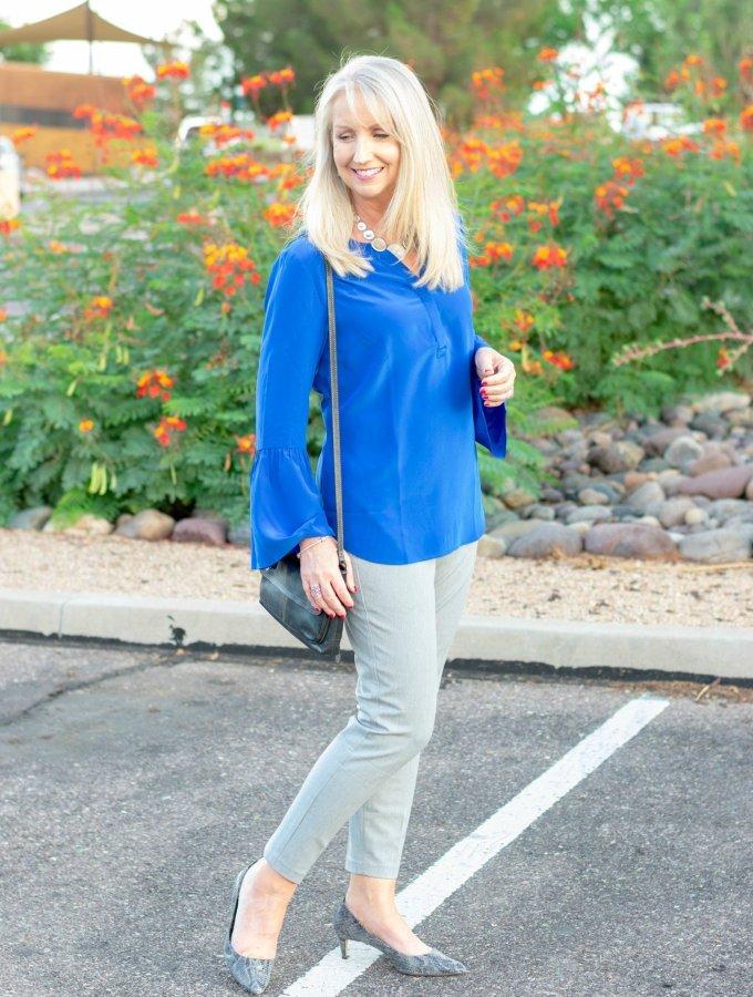 Wear to Work Blue Popover