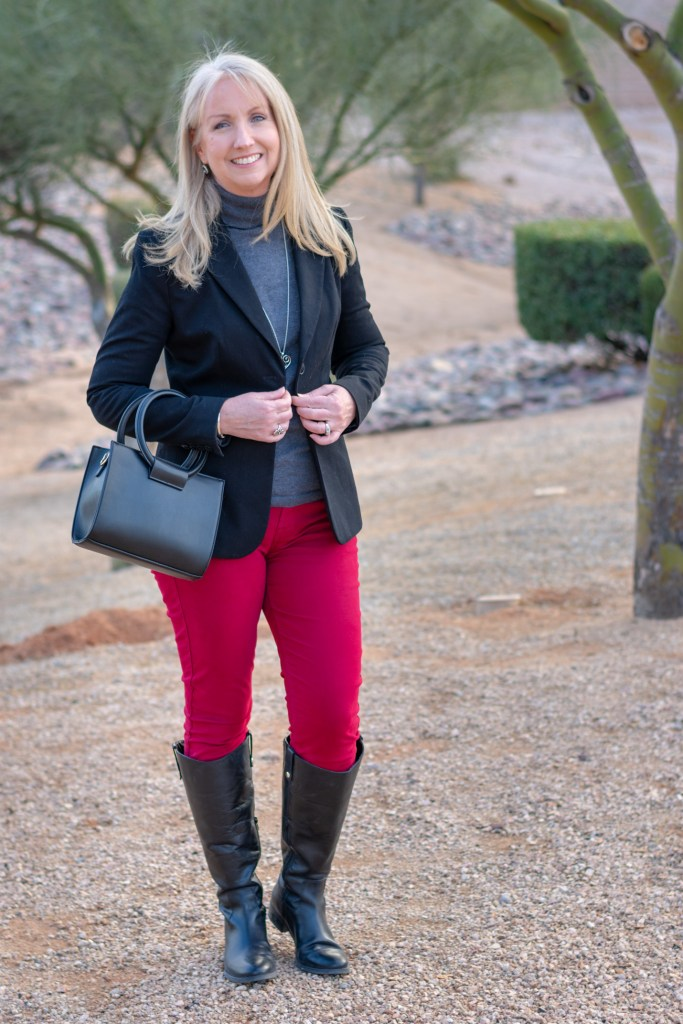 Black Blazer and Riding Boots 05
