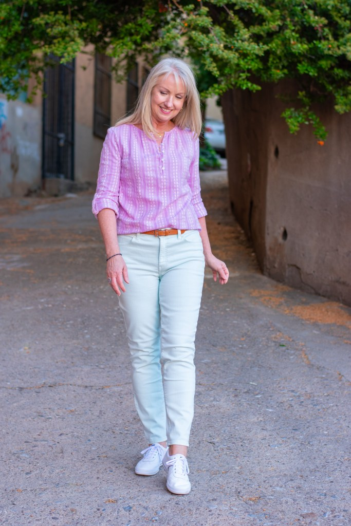 Casual Outfit in Cool Spring Colors