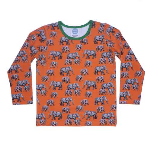 Orange Elephant Top