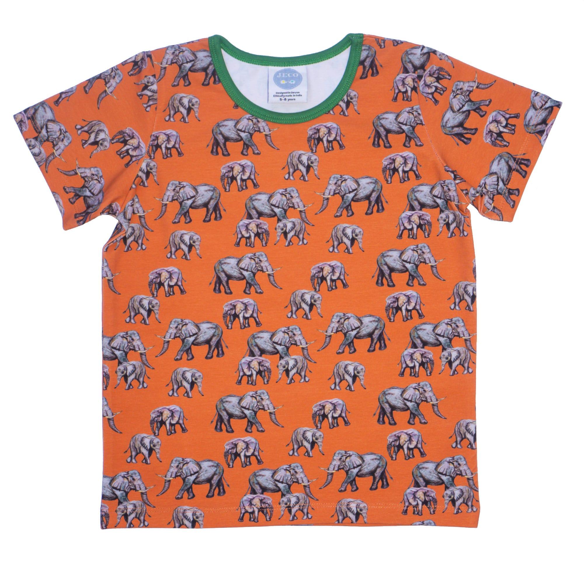 Orange elephant Tshirt