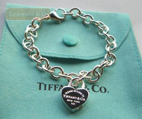 return_to_tiffany_heart_lock_charm_bracelet_new