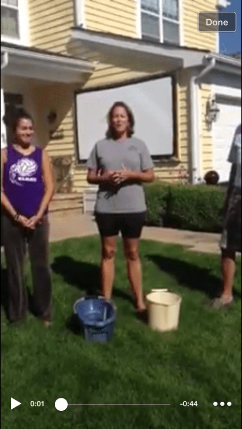 joy doing ice bucket