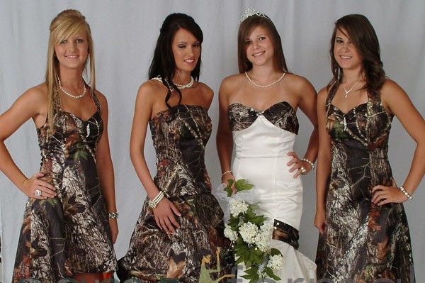 Camo Bridesmaid Dresses