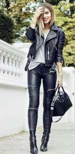 Badass leather clothes for women (016)   fashion