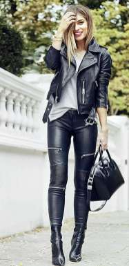Badass leather clothes for women (016) | fashion
