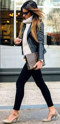 Badass leather clothes for women (037) | fashion