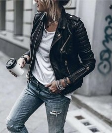 Badass leather clothes for women (080) | fashion