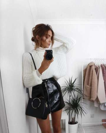Badass leather clothes for women (090)   fashion
