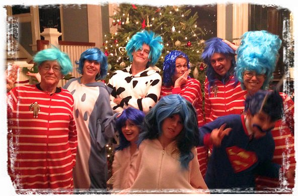 Blue-Haired Bingo within Footie Pajamas