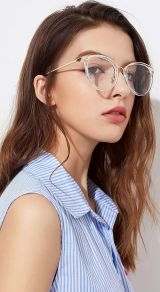 Clear Glasses Frame For Women's Fashion Ideas #Transparent #Eyeglass (11)