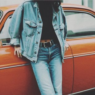 Denim jacket for women street style ideas (18)