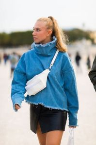 Belt Bag Inspiration. Fannypack Outfits Street Style Ideas