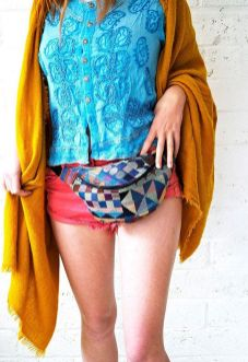 Etsy.com Geometric Bumbag Fannypack Tapestry, Black Ykk Zip. Fully Lined Fanny Pack With Key Ring Tab For Children And Adults Fanny Pack