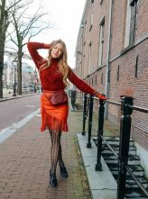 Floortjeloves.com Floortjeloves, Massimo Dutti, Maje, Gucci, Beltbag, Fannypack, Gloves, Leg Avenue, Printed Tights, All Red Everything, Red, Tights, Airdate