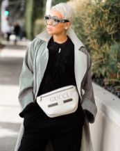 Whtie Gucci Fannypack Outfits Street Style Ideas