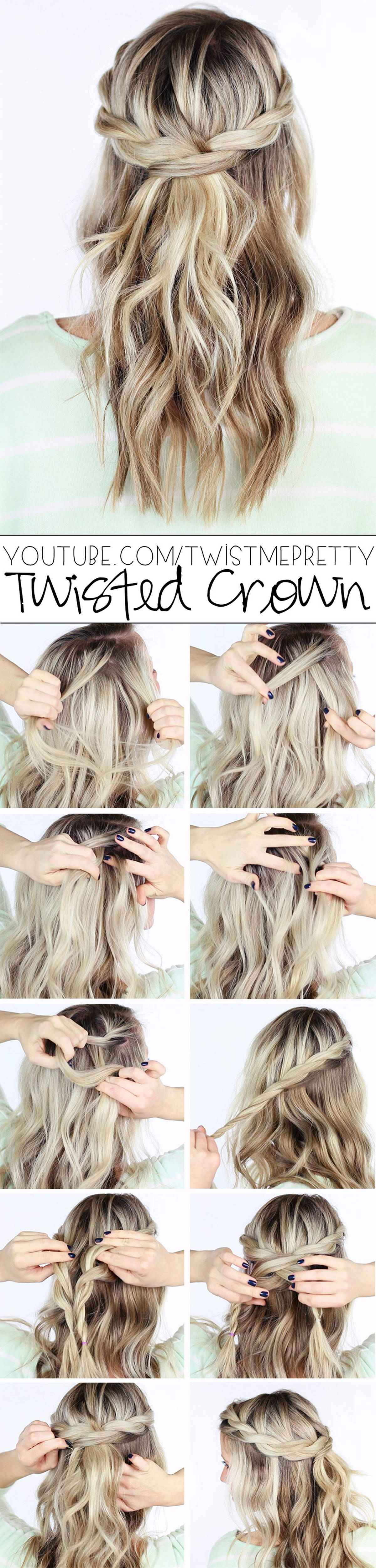 Hairstyles diy and tutorial for all hair lengths 016 | fashion