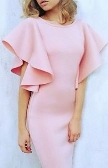 Pink sleeve dress idea for daily action 23 fashion