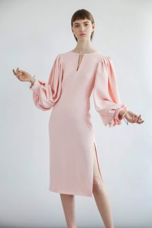 Pink sleeve dress idea for daily action 30 fashion