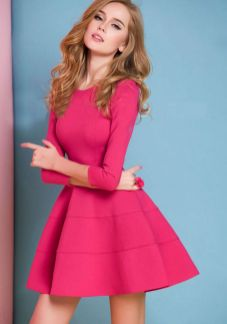 Pink sleeve dress idea for daily action 42 fashion