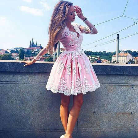 Pink sleeve dress idea for daily action 43 fashion