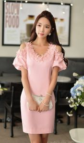 Pink sleeve dress idea for daily action 59 fashion