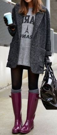 Rainy day cold weather outfit (17)