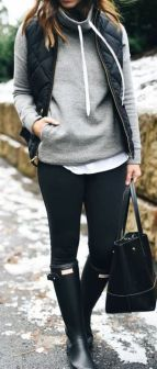 Rainy day cold weather outfit (46)