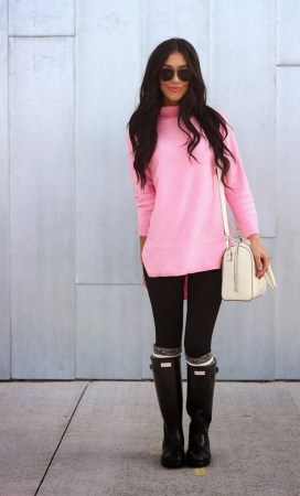 Rainy day cold weather outfit (61)