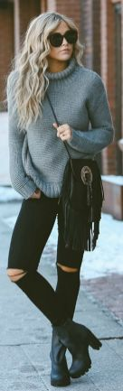 Sweaters outfit idea you should try this year (005) | fashion