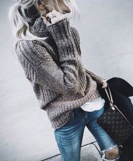 Sweaters outfit idea you should try this year (022) | fashion