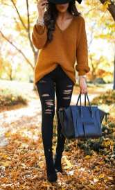 Sweaters outfit idea you should try this year (038) | fashion