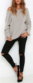 Sweaters outfit idea you should try this year (045) | fashion