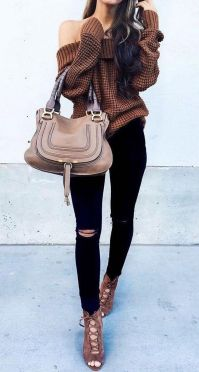 Sweaters outfit idea you should try this year (050)   fashion