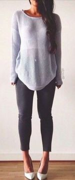 Sweaters outfit idea you should try this year (072)   fashion