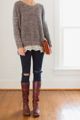 Sweaters outfit idea you should try this year (124) | fashion